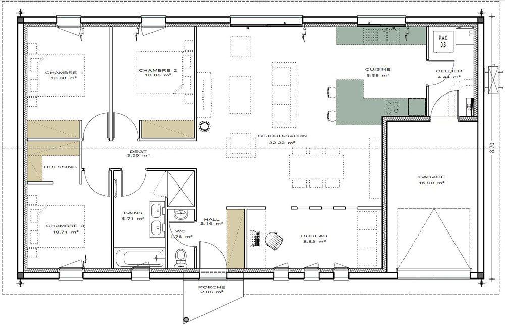 Plans De Maisons Igc Construction Plan Maison 100m2 Plan Maison Plan De Maison Fonctionnelle