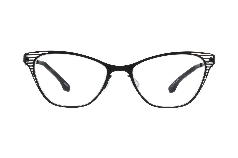 875be9a74a Zenni Womens Cat-Eye Prescription Eyeglasses Black Stainless Steel ...