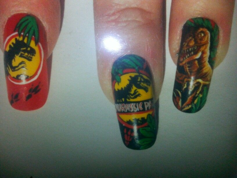 Jurassic park nail art by susan tumblety   Jurassic park   Pinterest ...