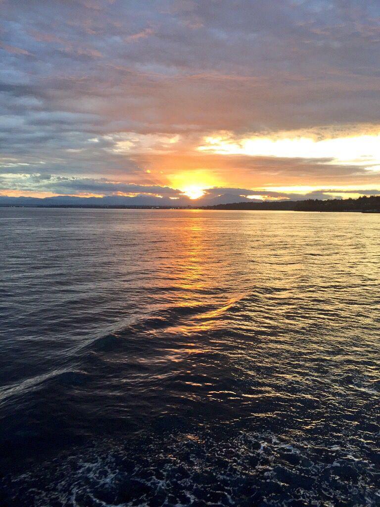 Sunrise on the ferry Sunrise, Earth, Celestial