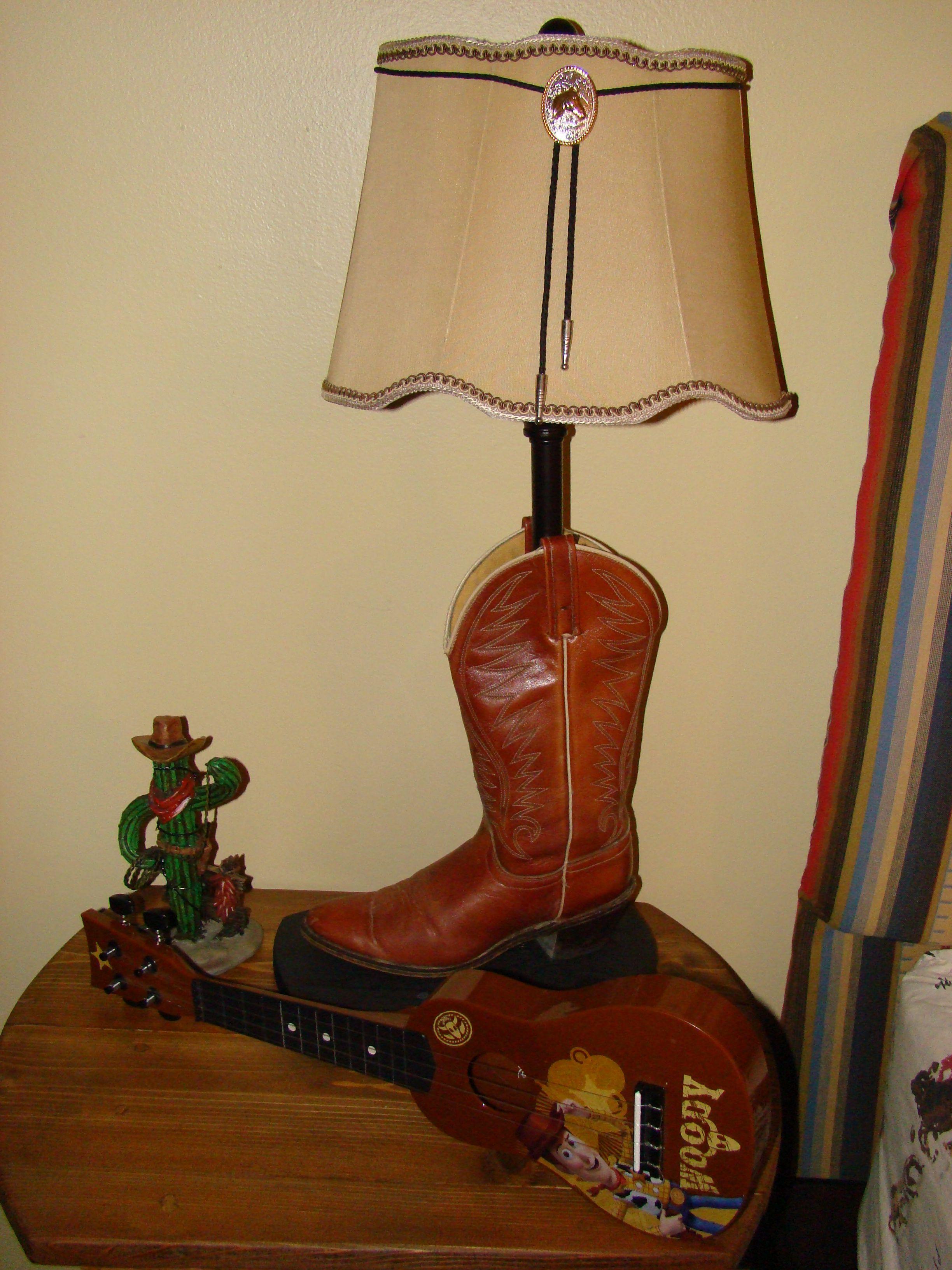 Diy Cowboy Boot Lamp