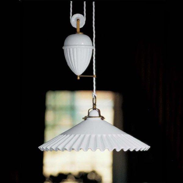 Aldo Bernardi Linea Duse 2115 Rise and Fall Pendant Light
