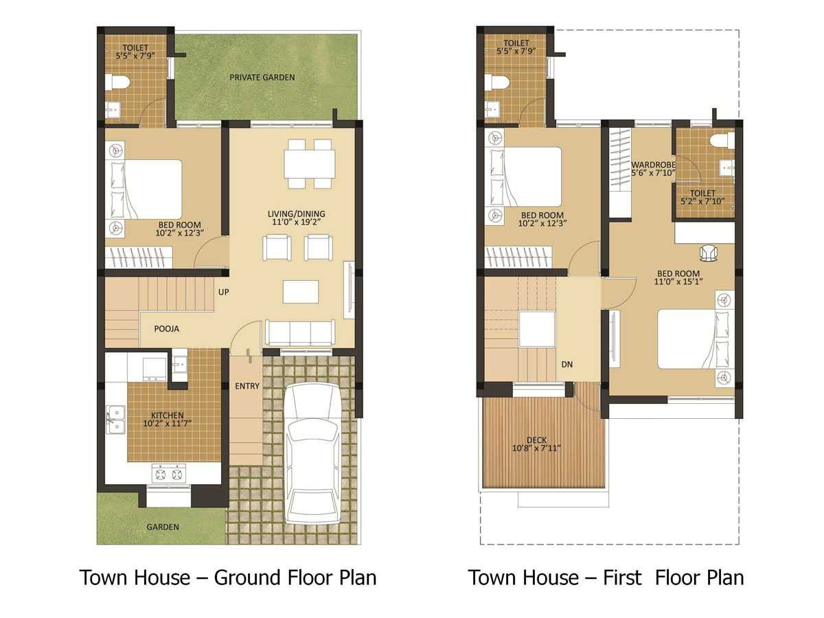 Tiny Home Designs: 800 Sq.ft 2BHK Plan With Car Parking And Garden