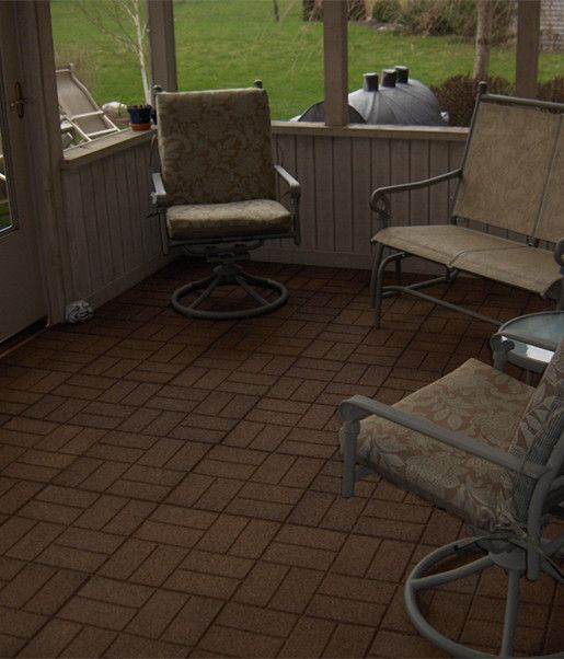 Durable easy to clean rubber tiles for garden public - Alfombras portico ...