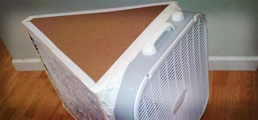 Better Box Fan Air Purifier Homemade More Efficient