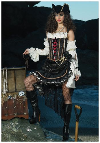 Deluxe Sultry Pirate Costume  sc 1 st  Pinterest & Deluxe Sultry Pirate Costume | Costumes | Pinterest | Costumes ...