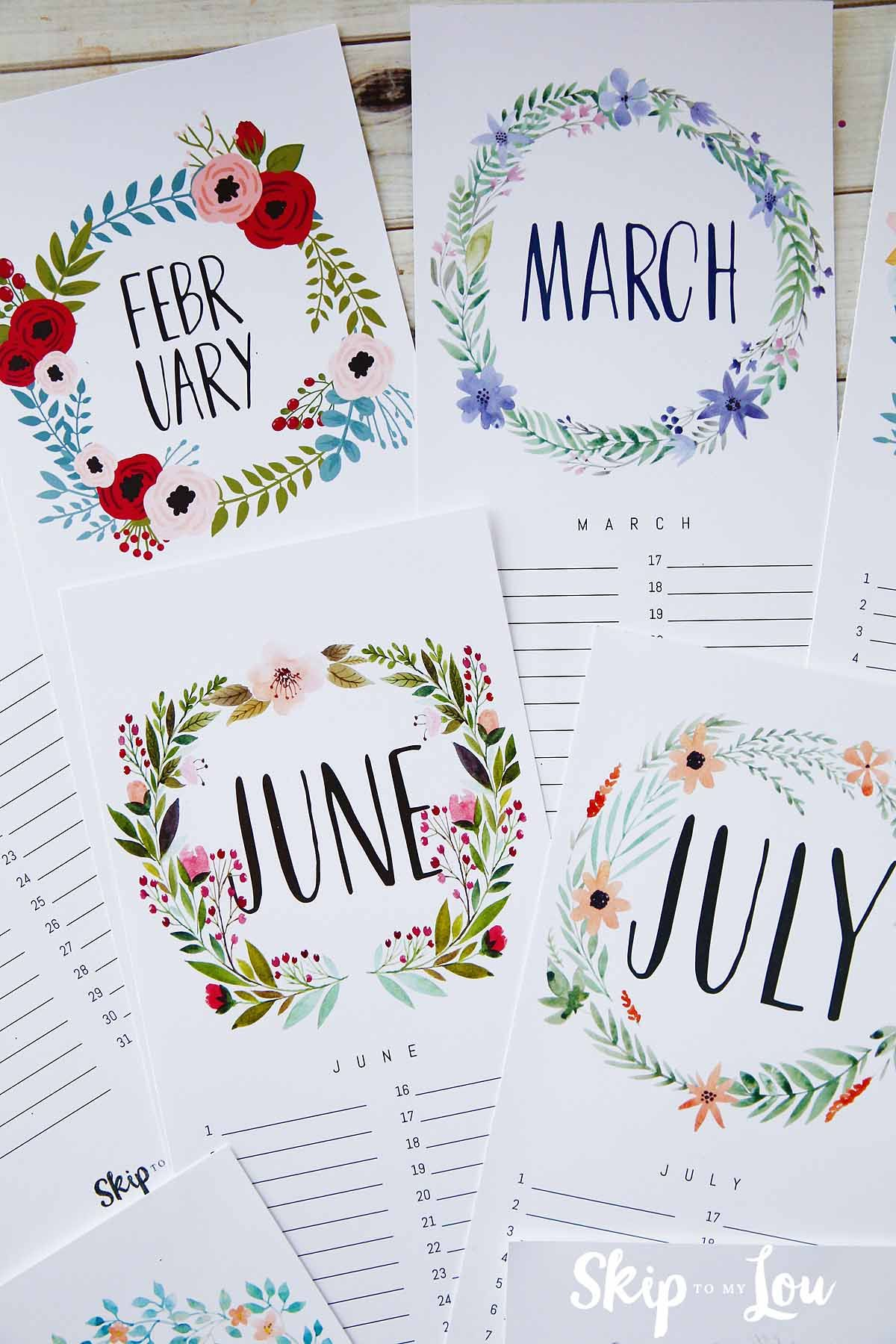 Beautiful 2019 Printable Calendar Free Download Updated Free