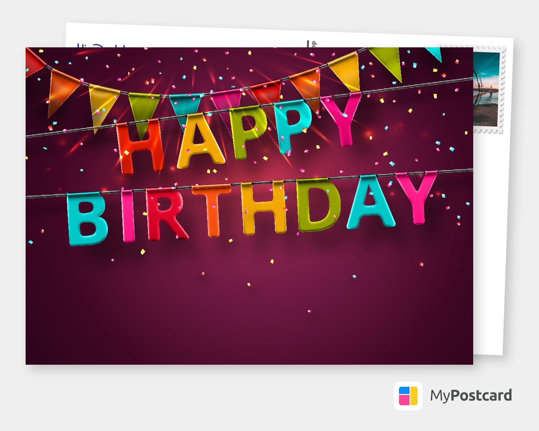 Send Birthday Cards Online To Canada Us Uk International Free Shipping Printed Mailed For You Cards Postcard Greeting Cards Birthday Card Online Birthday Postcards Birthday Card Sayings