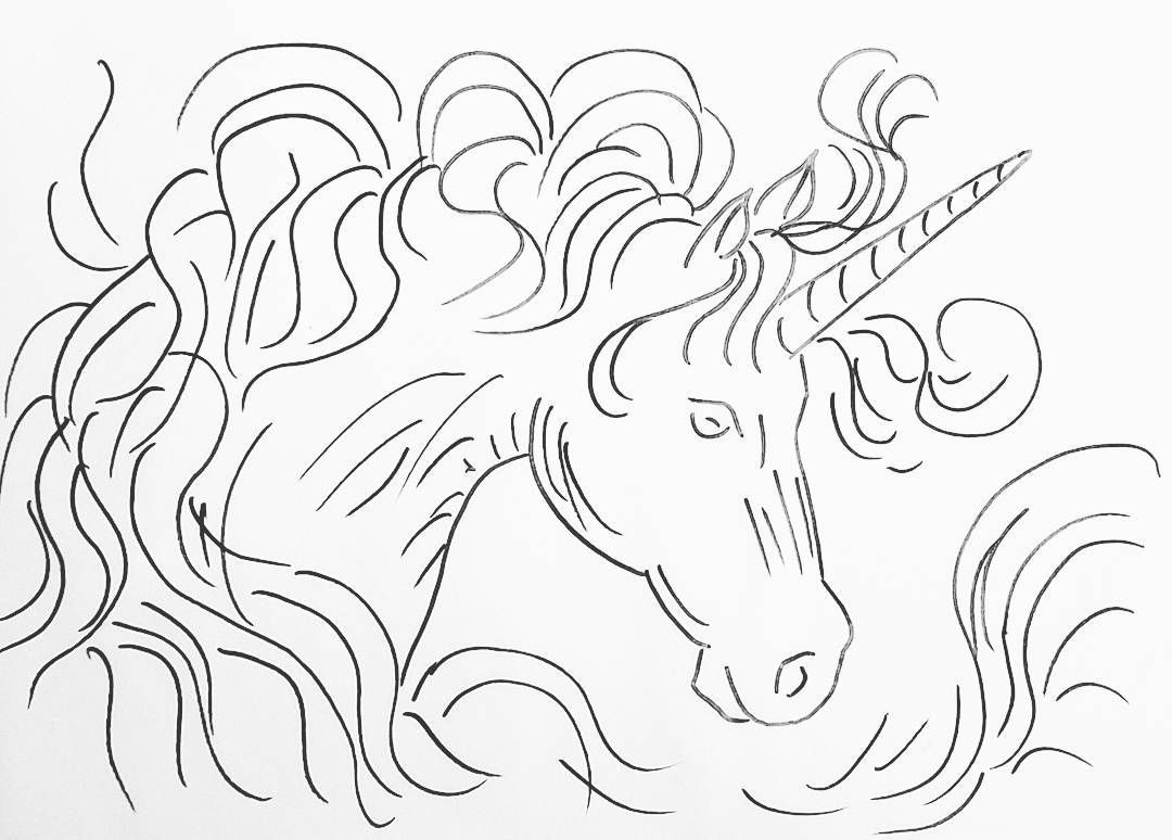 Free Printable Coloring Sheet Unicorn Traceable #