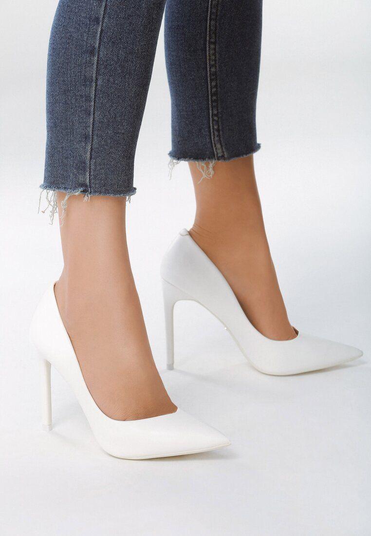 Biale Szpilki Perfect Denying Heels Shoes Heels High Heels