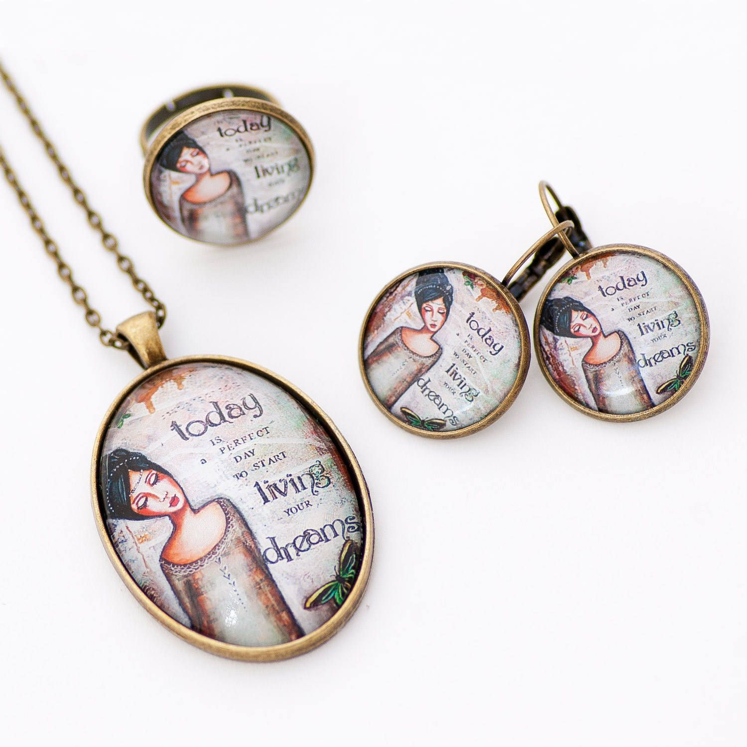 Brown Jewelry Set - Inspirational Jewelry - Best Christmas Gifts for ...