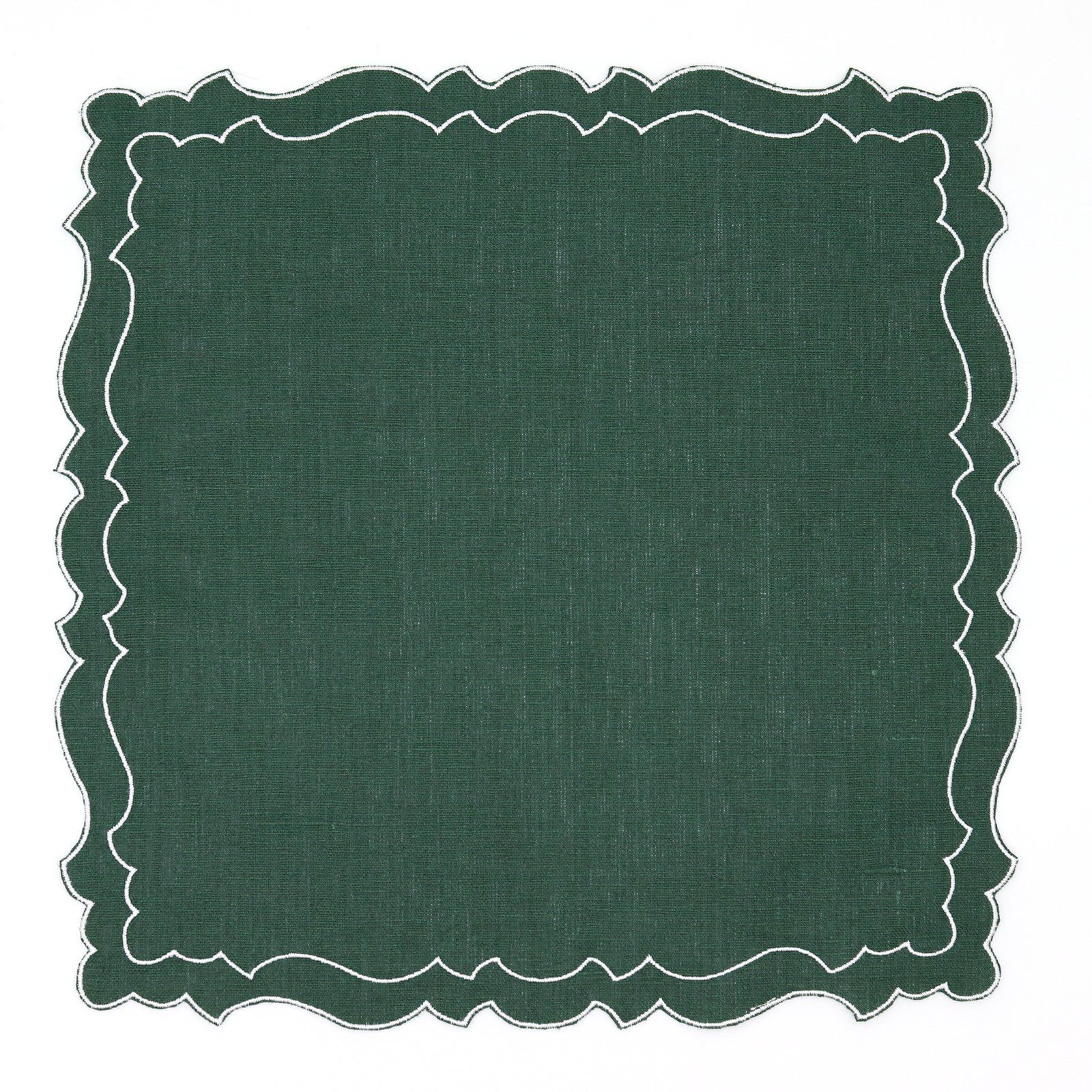 Set Of 6 Emilia Coated Italian Linen Placemats In Forest Green Rebecca Udall Linen Placemats Italian Linens Placemats