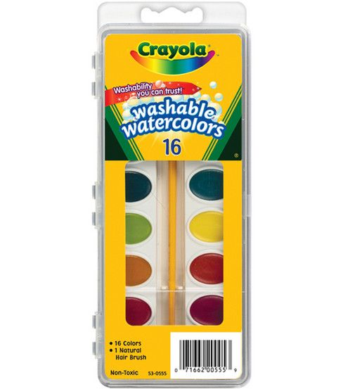 Watercolor Paints With Brush Washable 8 Colors Compare To Crayola