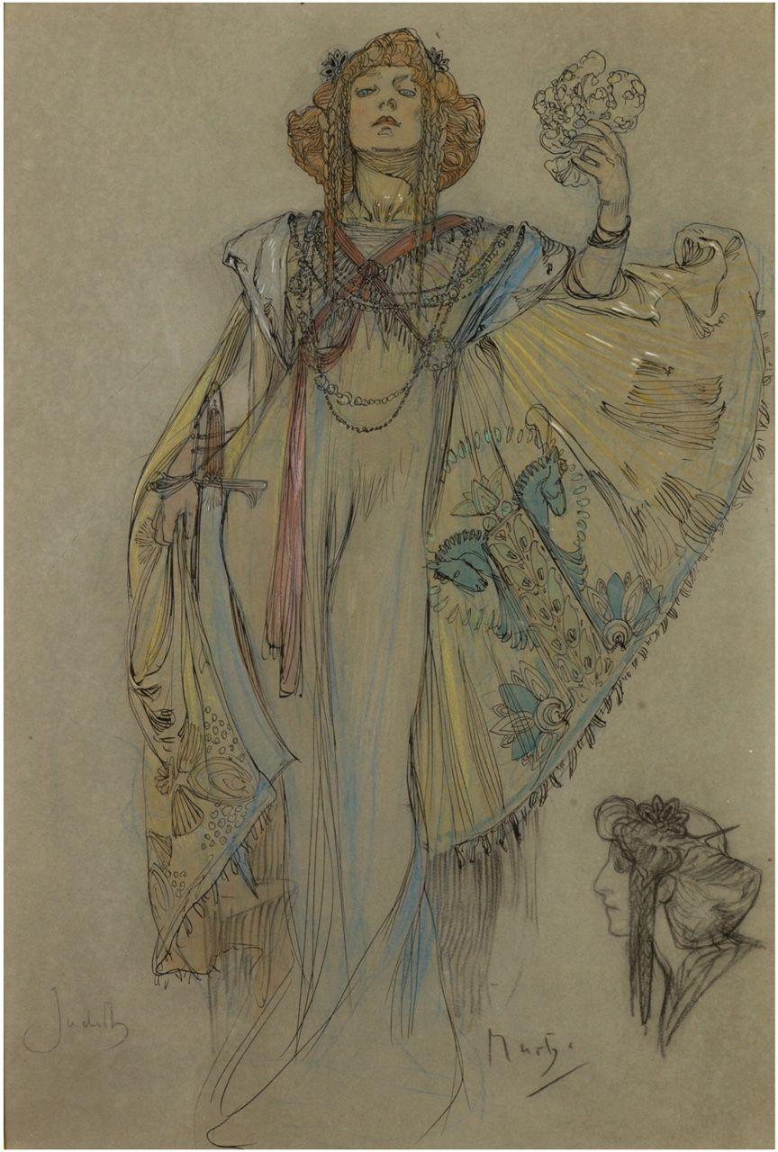"songesoleil: ""Judith. Art by Alfons Mucha. (1860-1939) """