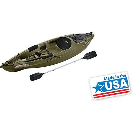 Sun dolphin journey 10 39 sit on fishing kayak with paddle for Wide fishing kayak