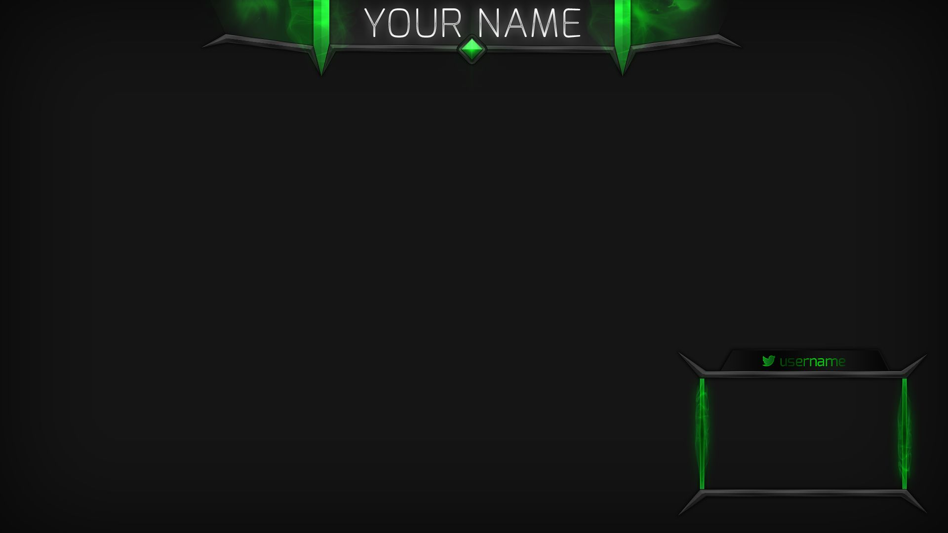 free twitch overlay template - poison cloud green stream overlay twitch stream board