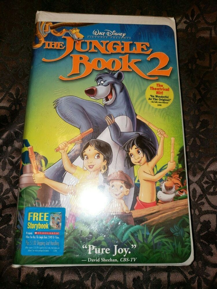 Rare Factory Sealed Disney Jungle Book 2 Vhs Brand New Clamshell