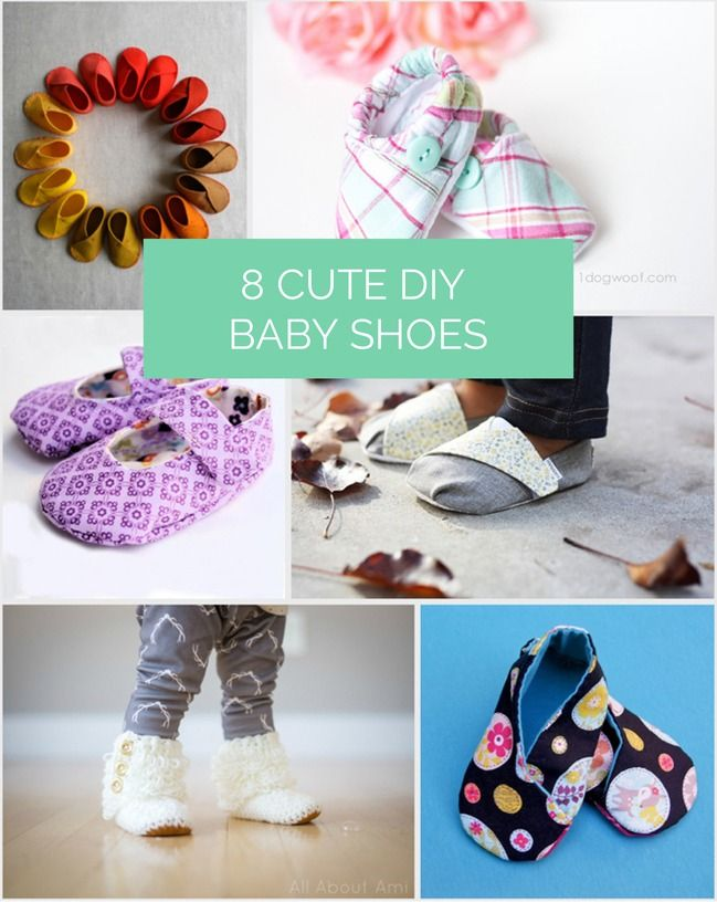 8 of the cutest DIY baby shoes.