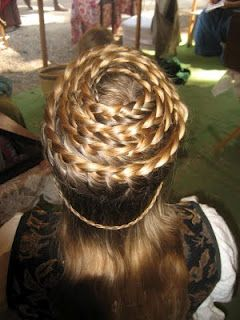 Beehive- braids like this are really fun to do if you have to sit in an airport or something for ...