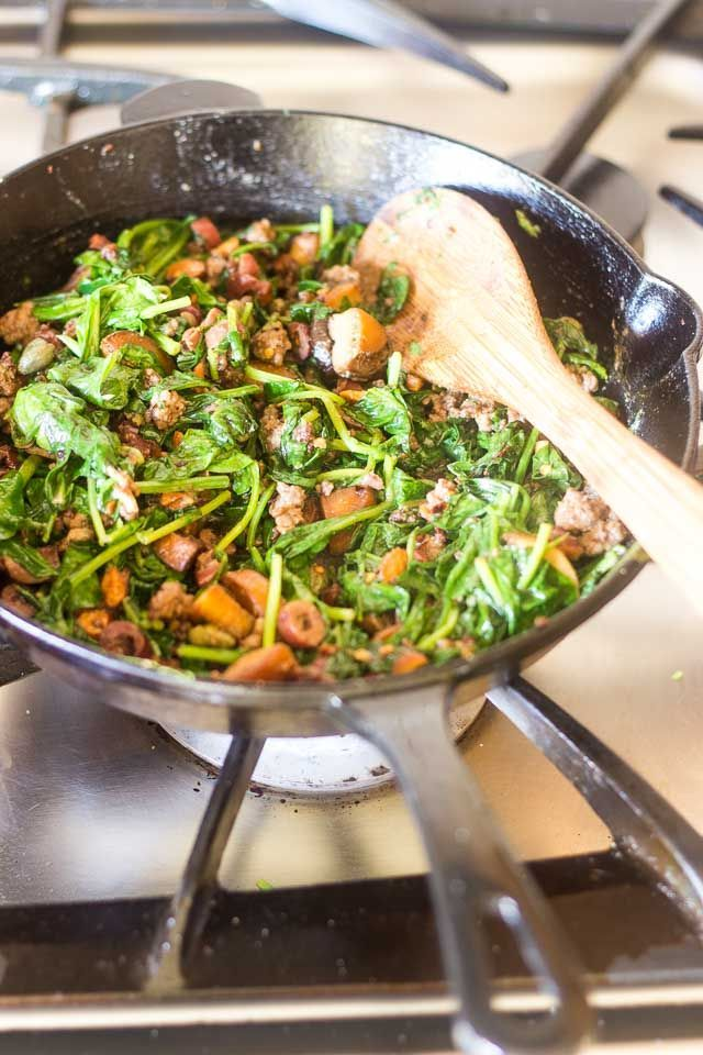 Keto Ground Beef and Spinach Skillet   Recipe   Ground ...