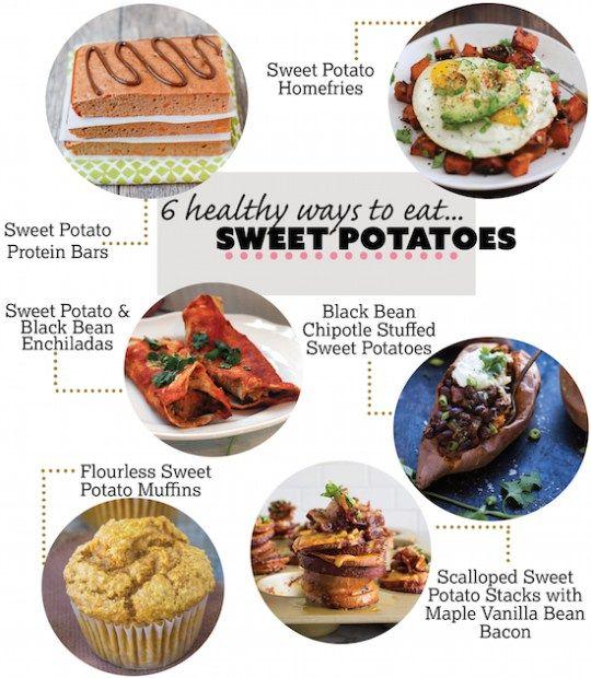 Sweet Potato Protein Bars 6 Healthy Ways To Eat Sweet Potatoes Recipe Sweet Potato Home Fries Sweet Potato Sweet Potato Stacks