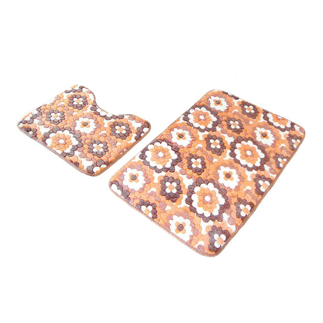 Coral Bathroom Rugs Bathroom Rug Petforu 2pcs Coral Velvet Anti Slip Absorbent Carpet