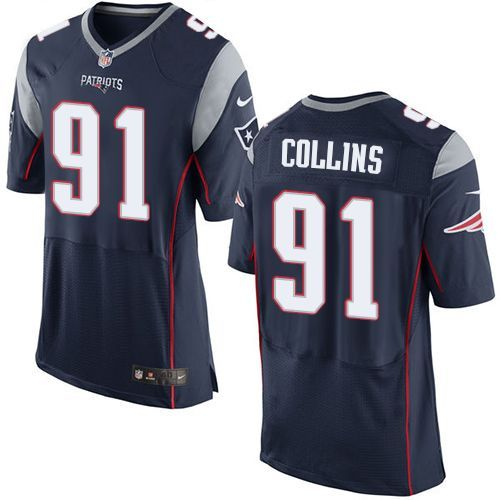 3531f33b6 ... Nike New England Patriots 91 Jamie Collins Navy Blue Team Color Mens  Stitched NFL New ...