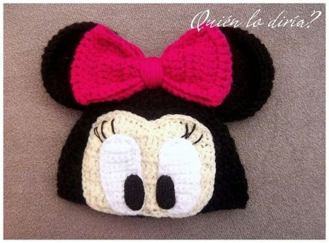 Minnie Mouse crochet hat by Daeyneras | Crochet | Pinterest ...