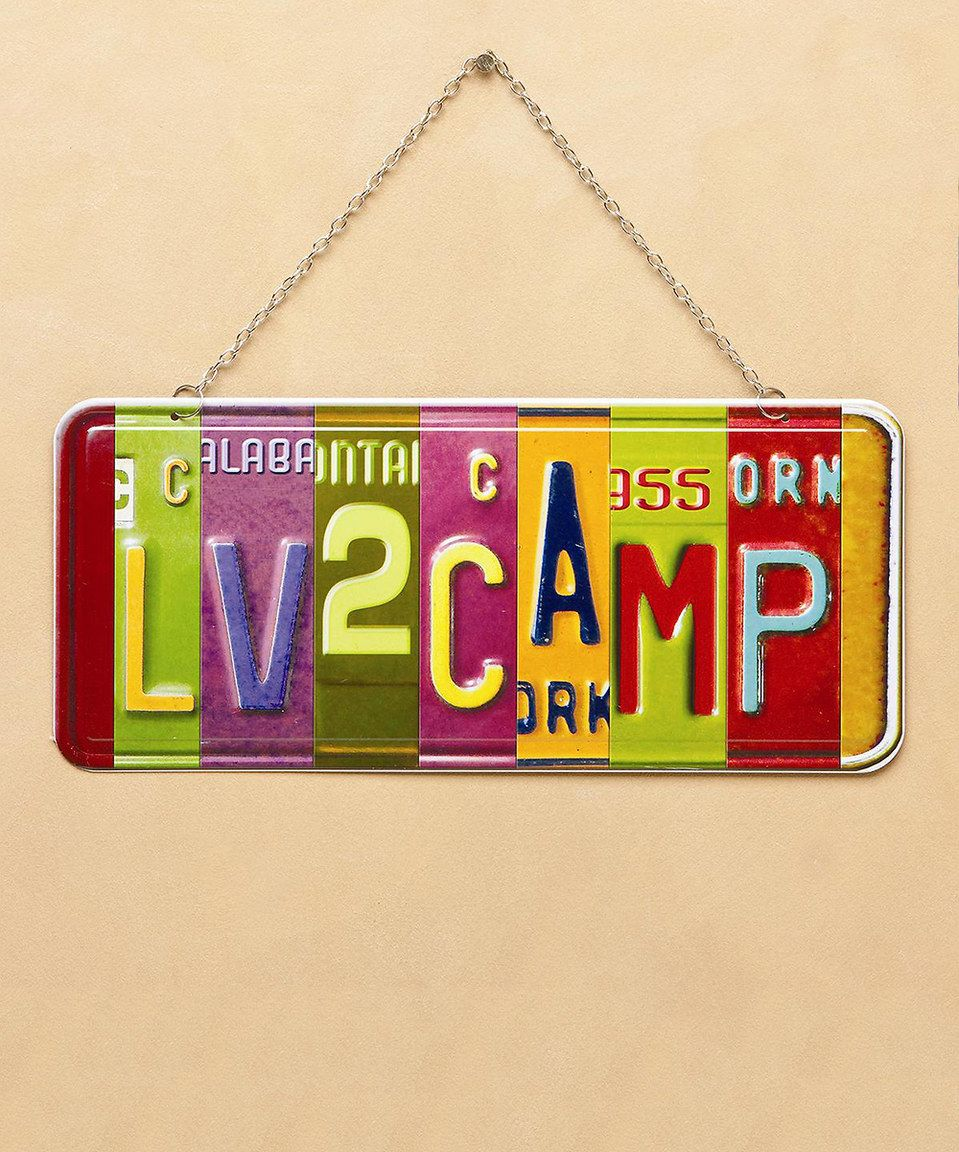 Loving this Love 2 Camp Vanity Plate Wall Sign on #zulily! #zulilyfinds