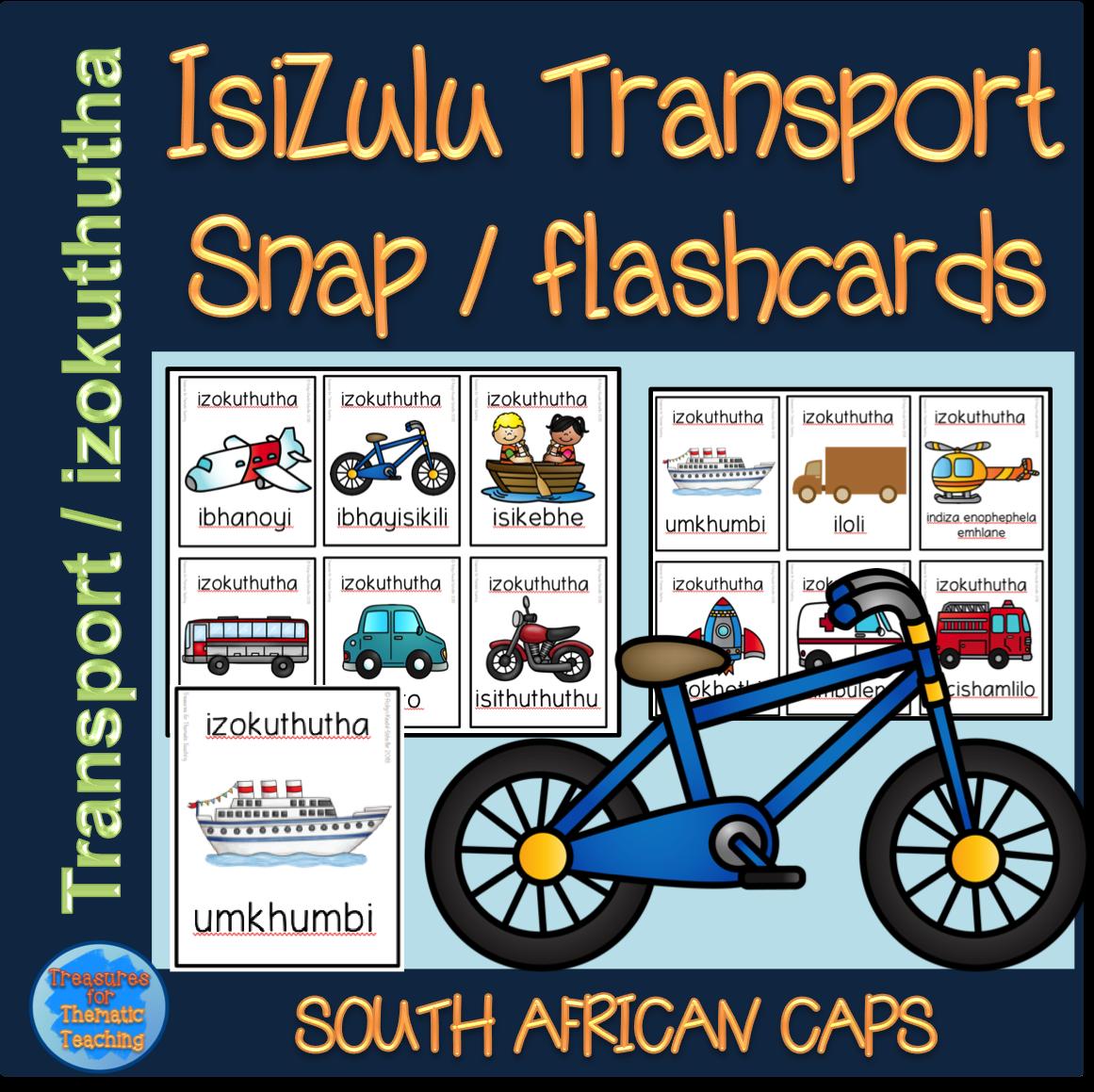 Isizulu Transport Izokuthutha Snap Flashcards