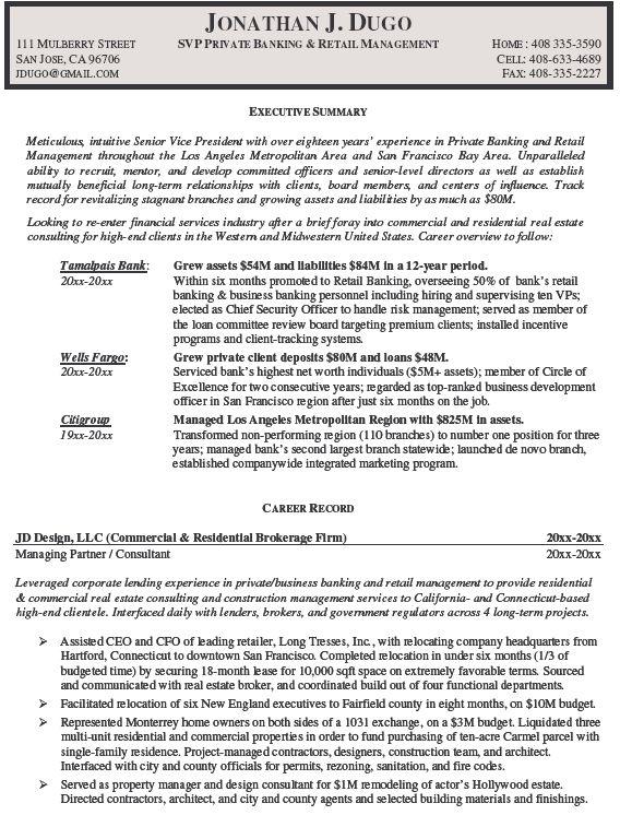 Universal Banker Resume mortgage banker resume example Private Banker Resume Example Http Www Resumecareer Info