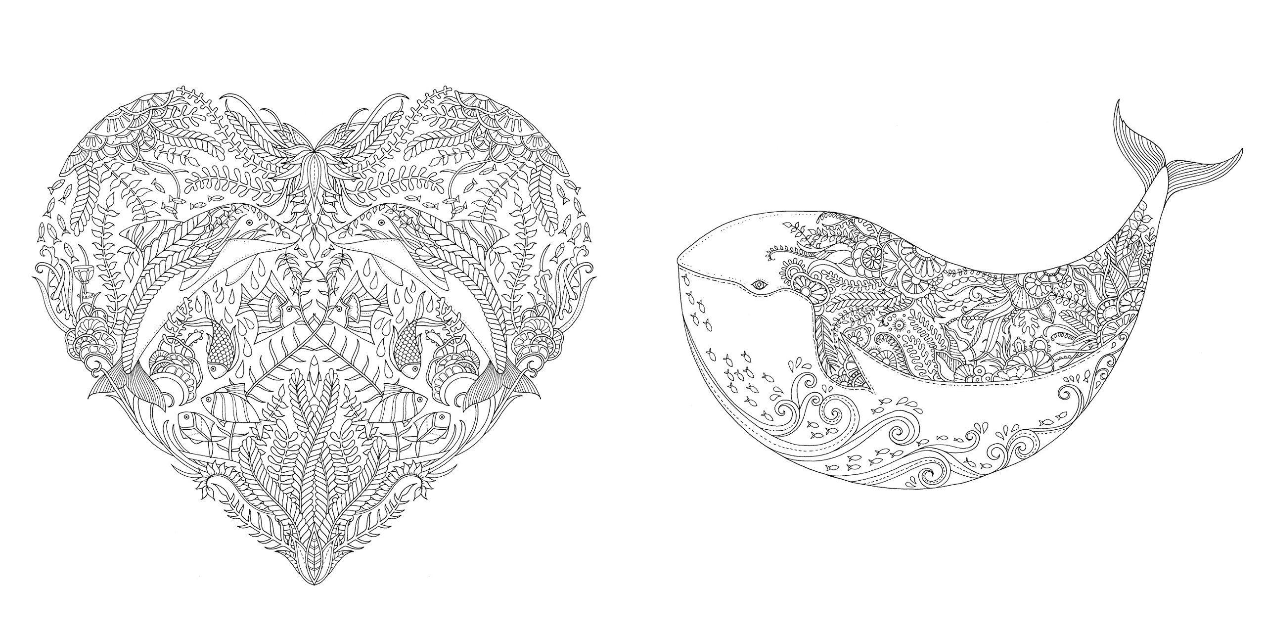 Раскраска джоанны басфорд затерянный океан
