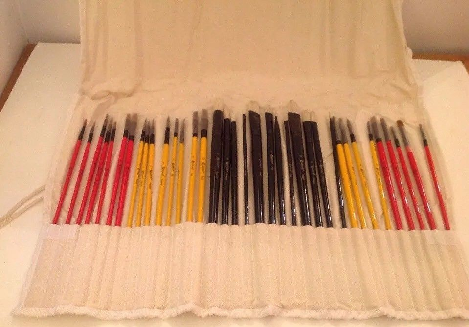Paint Brush Set Nail Art Professional Artist Oil Watercolor Acrylic ...