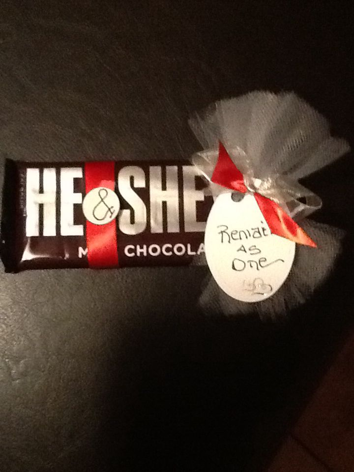 25th Anniversary candy bar favors