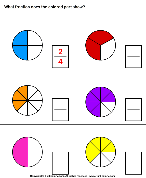 What Fraction Of Shape Is Colored Worksheet Fractions Worksheets Fractions Math Worksheets