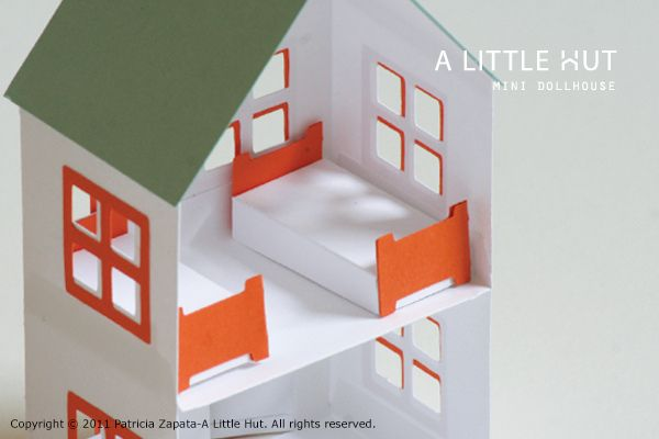 mini dollhouse by A Little Hut-free printable @Sarah Hatch @Amy Mallett (thought of you)