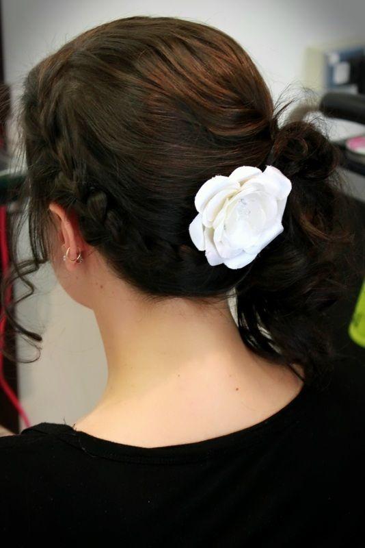 Hand-made Silk Flower with Swarovski Crystal Centre Bridal - Kimberley Woodward Designs