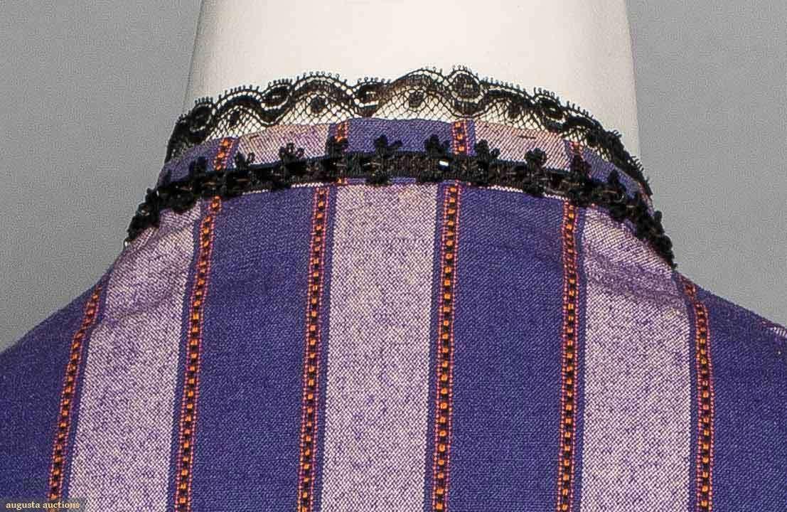 Purple stripe day dress s augusta auctions piece light