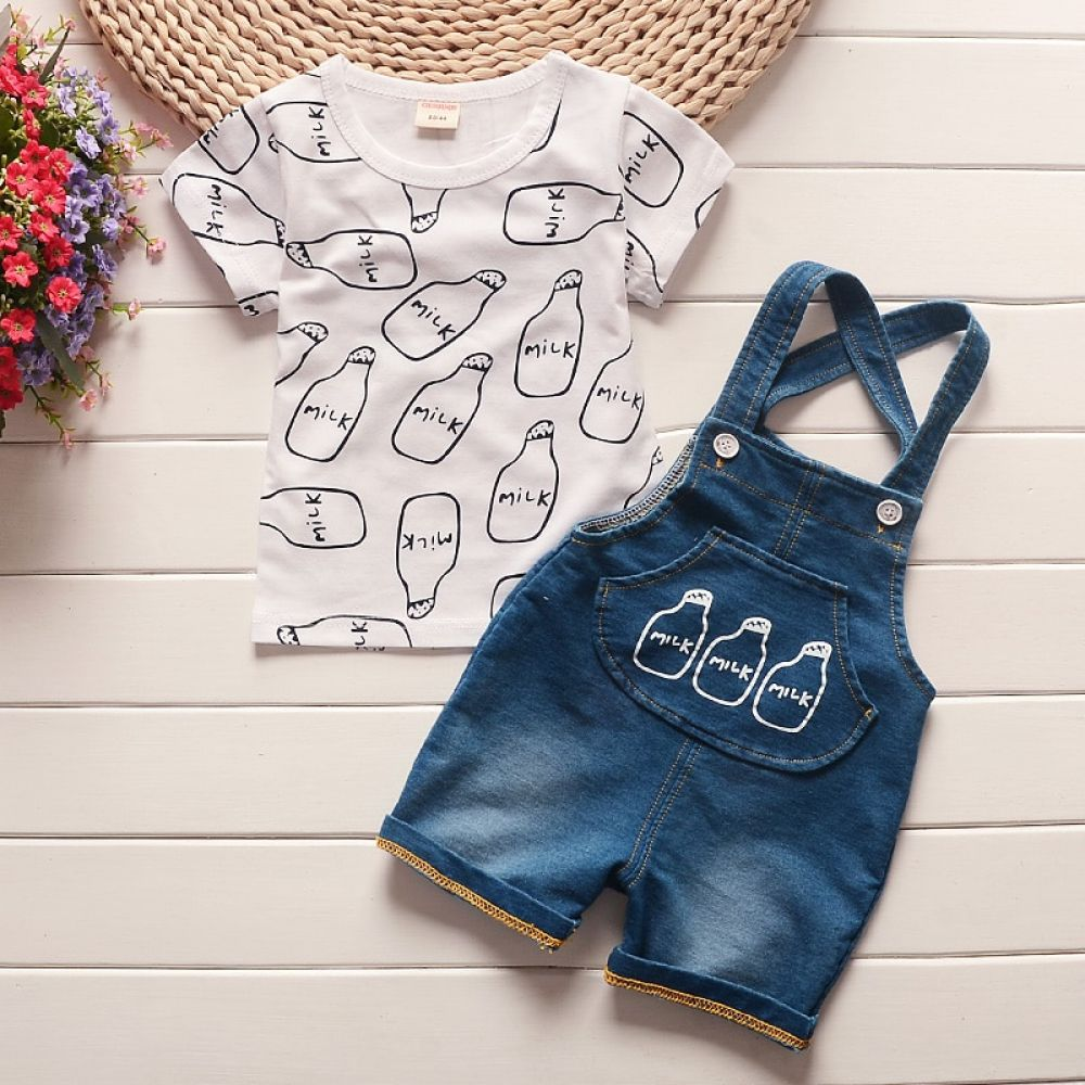 Free Shipping Baby Boy/'s  Summer Cartoon Top+Pants Outfit Set