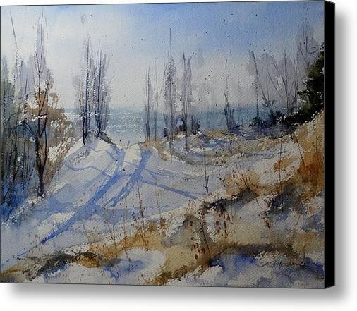 Winter Dune Canvas Print / Canvas Art By Sandra Strohschein