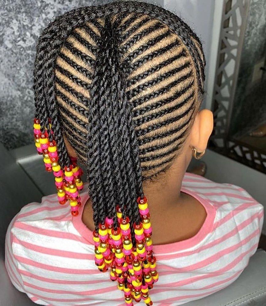 2019 Back To School Hairstyles 25 Braids Braidstyles Feedinbraids Neatbraids Ponytailweave Feedinp Kids Braided Hairstyles Kids Hairstyles Braids For Kids