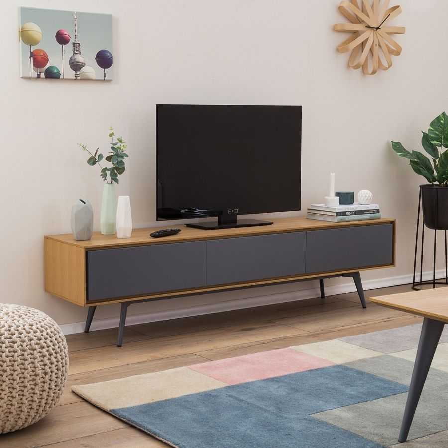 Lowboard Grau Matt Tv Lowboard Danica Eiche Matt Dunkelgrau In 2019 Decor Tv