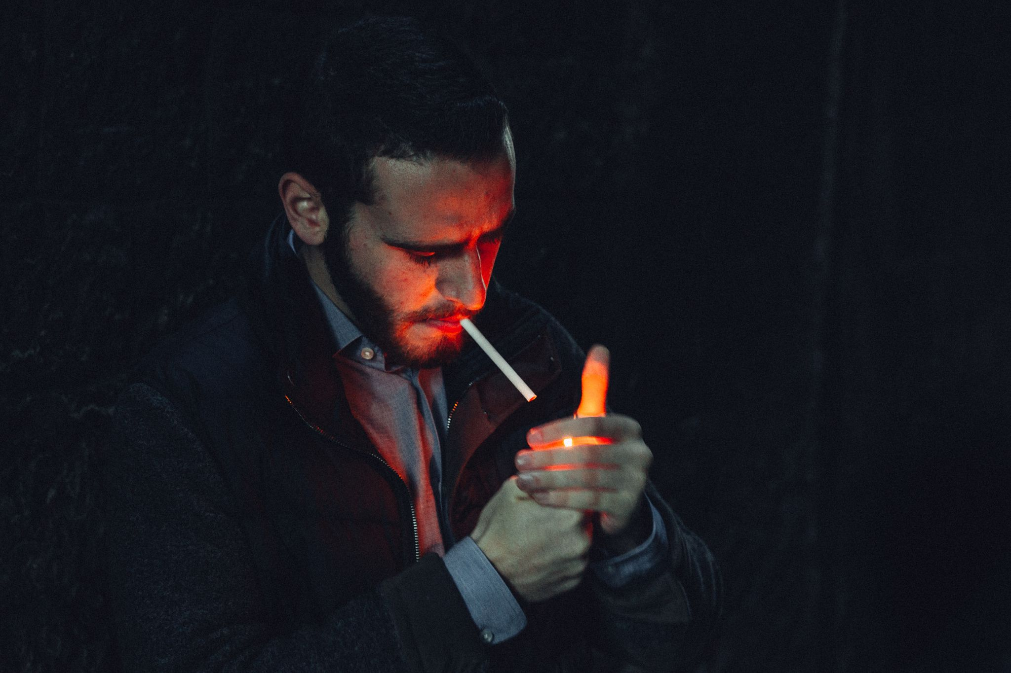 Playing in the darkness with a lighter