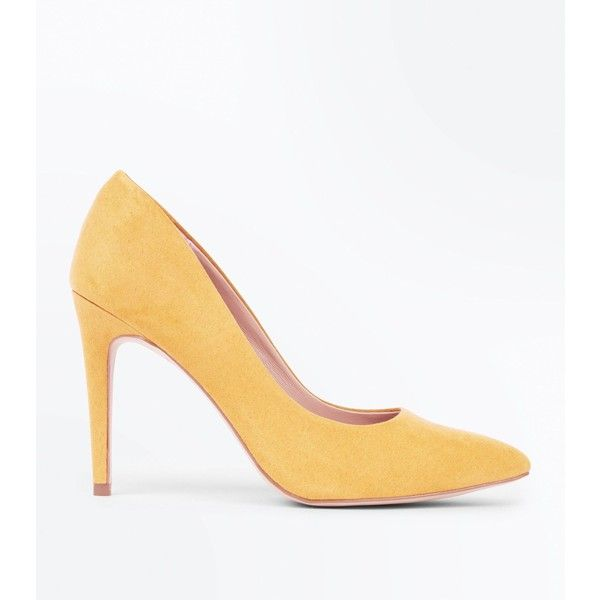 Yellow Suedette Platform wedge Heel Bow Toe Court Shoes wBcD1h6Ni