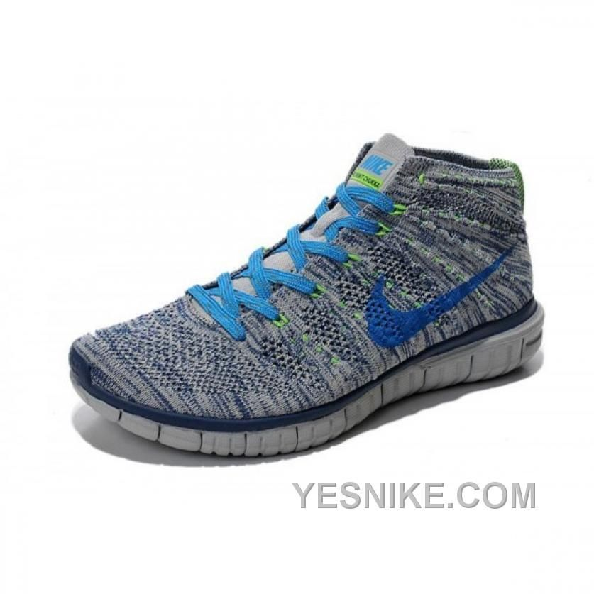 watch 48a65 5769c SOLDES REMBOURRAGE NIKE FLYKNIT CHUKKA HOMME GRISE BLEU BLANCHE BASKETS  SOLDES Only  76.00 , Free Shipping!