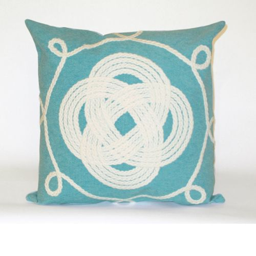 Ornamental Knot Pillow from Liora Manne $54