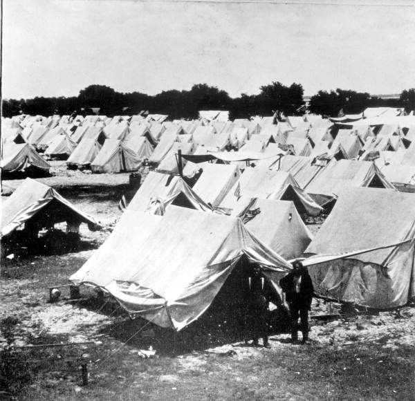 Tents set up at Camp Tampa during the Spanish-American war ...