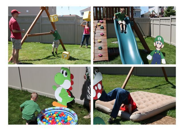 birthday party obstacle course ideas jeux Super Mario Bros