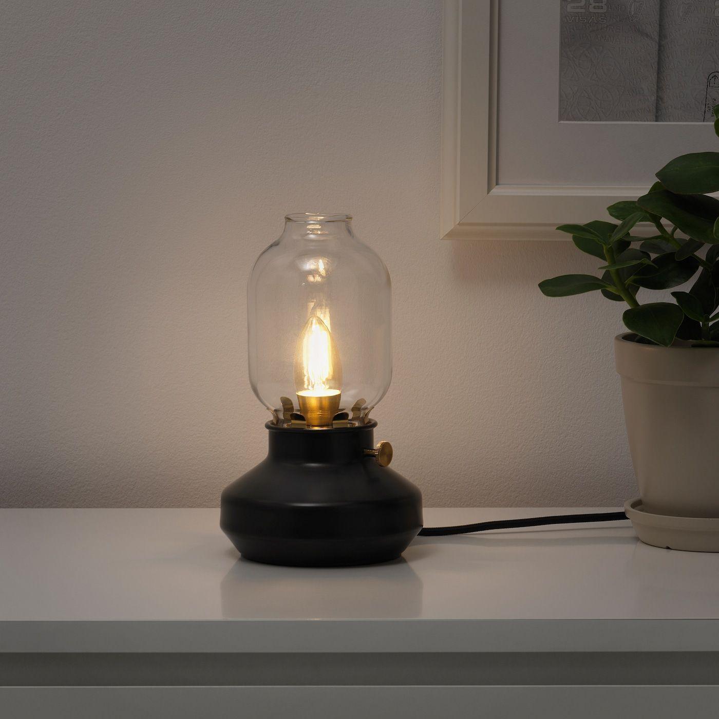 Tarnaby Tischleuchte Anthrazit Ikea Osterreich In 2020 Led Lampe Led Leuchtmittel Ikea Tischlampe