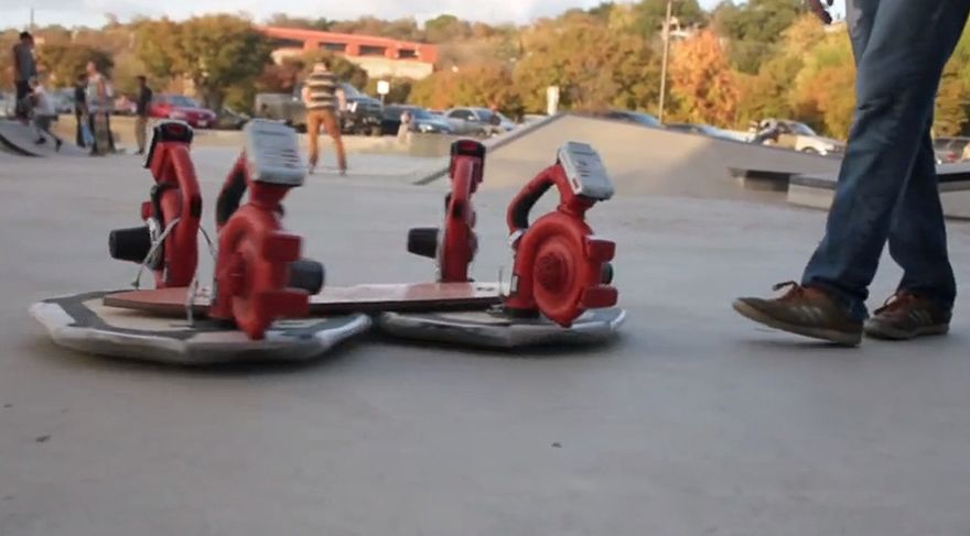 Diy leaf blower powered hovercraft now with skateboard form diy leaf blower powered hovercraft now with skateboard form factor solutioingenieria Image collections